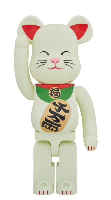 Bearbrick Maneki Neko - Glow in the Dark (1000%)