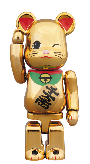Bearbrick Maneki Neko - Gold Metallic Vol. 4 (100%)