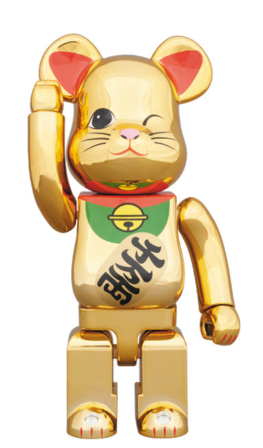 Bearbrick Maneki Neko - Gold Metallic Vol. 4 (400%)