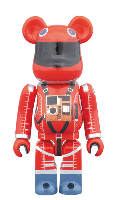 Bearbrick 2001: A Space Odyssey [Orange Space Suit] (100%)